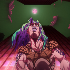 Diavolo suddenly in a city