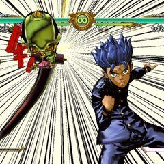 Koichi executing his GHA, <i>ASB</i>