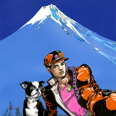 Jotaro with Iggy