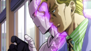 Kira activates the doorknob
