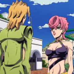 Trish asks Fugo about her place in <a href=