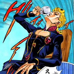 Giorno directly drinking the