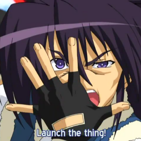 Eitaro making Joestar's trademark facehand pose
