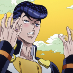 Josuke while drunk from Harvest's attack.
