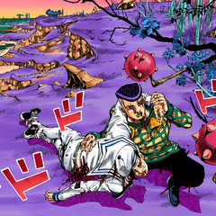 Josefumi rescues Kira, bringing him to the Rokakaka Tree