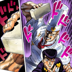 Tonio catches Josuke from behind...