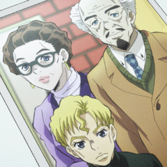 A photo of a young Kira with his family
