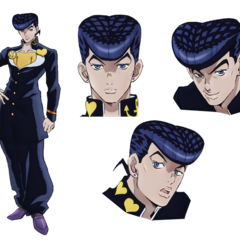 Key art of Josuke for the JoJo's Bizarre Adventure: Diamond is Unbreakable anime.