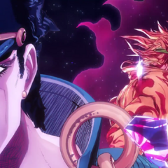 Jotaro (with DIO) featured in <i><a class=