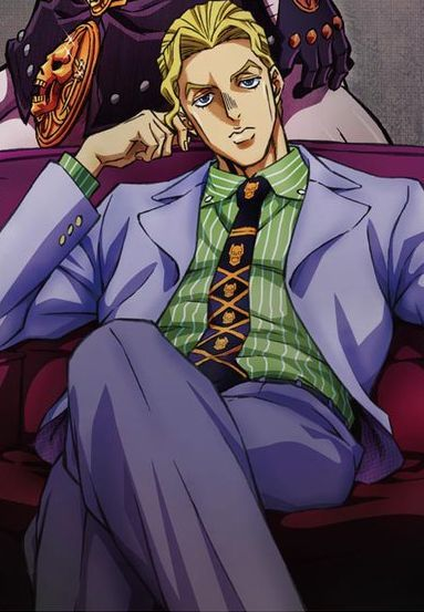 Jojo/'S Bizarre Adventure Kira Yoshikage Tie Four Colors Purple