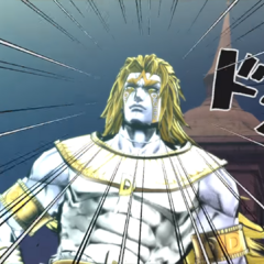 DIO reveals his newfound power to the Joestars.