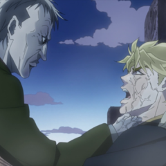 Dio almost killed by a vampire he unknowingly created.