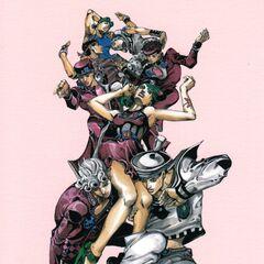 Hirohiko Araki Exhibition 2012 Group Art