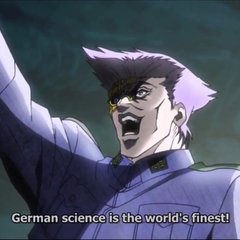 Stroheim saluting to Germany's superior science