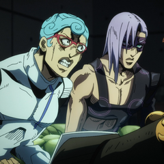 Ghiaccio's first appearance, furious when Melone tells him about the meager pay for the team's job