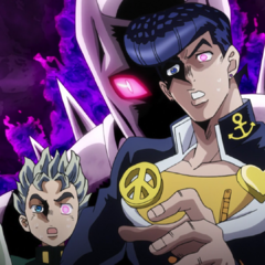 Jotaro and the others under <a href=