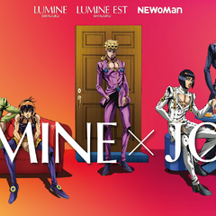 Abbacchio and the others in art promoting a crossover event with <i>Lumine</i>