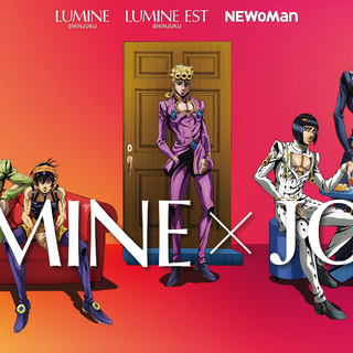 Giorno and the others in art promoting a crossover event with <i>Lumine</i>
