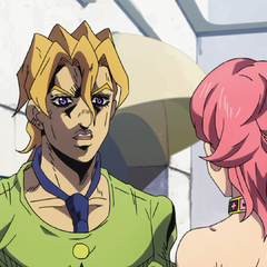 Fugo swears to Trish that they will protect her safety at all costs