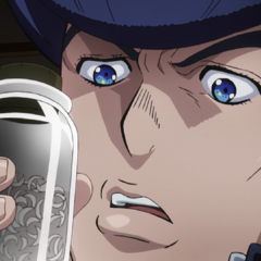 Josuke finds a jar of Kira's fingernail clippings.