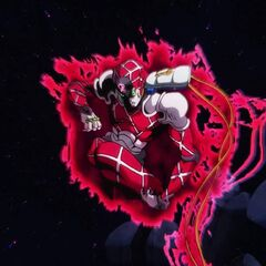 King Crimson activating Time Skip, the world replaced by the void from its perspective.
