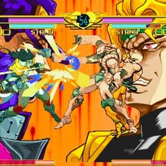DIO and Jotaro performing a Blazing Fists Match