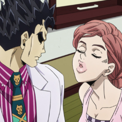 Kira glares at Shinobu's determined affection.