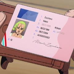 Zucchero's license