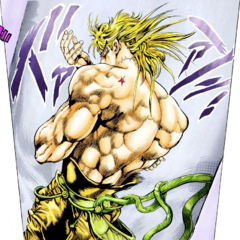 Dio posing with his <a href=