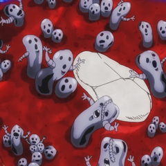 Metallica's manifestation inside Risotto's body