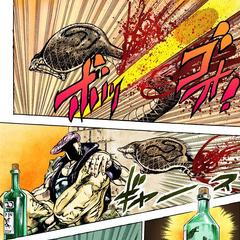 Убивает змею своим Стендом