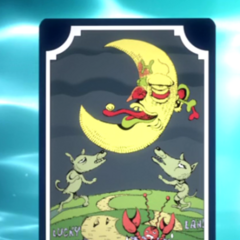 Tarot card representing The Moon