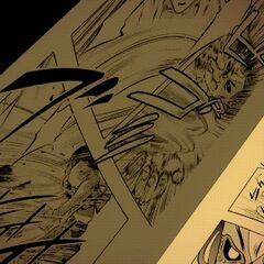 small glimpses of manga panels in the ED