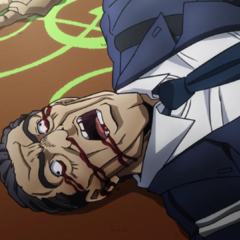 Ryohei Higashikata's death (Anime)