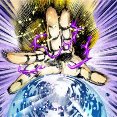 DIO's Hermit Purple used on a crystal ball