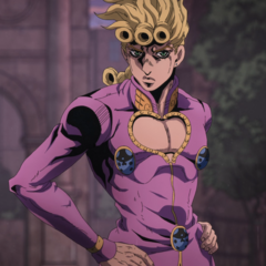 Giorno announcing Diavolo must be hiding in somebodies body