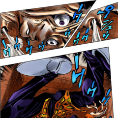Stopping rebroadcast at the time of Narancia being stabbed by <a href=