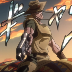 Hol Horse summoning Emperor with its characteristic sound effect,