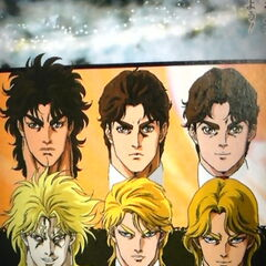 Jonathan and Dio, from adolescence to adulthood.
