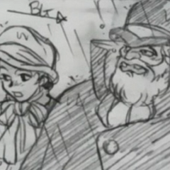 Dario And The Woman From Bar As They Appear In The OVA's Timeline Videos