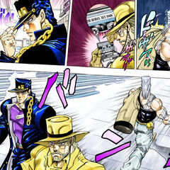 Jotaro, Joseph and Polnareff back to their country