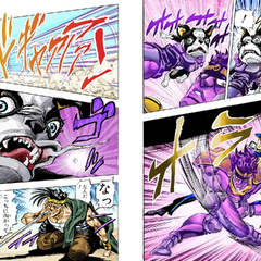 Star Platinum throws <a href=