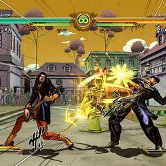 Akira battling Josuke, <i>ASB</i>