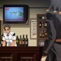 Risotto watching news about an airplane crash
