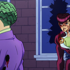 Kira and Josuke in their final stand off
