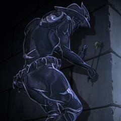 Chariot Requiem waiting behind a wall