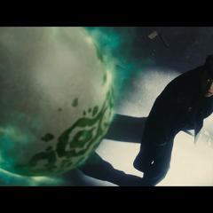 Echoes's egg floats above the onlooking Josuke.