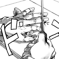 Mitsuba's knife is