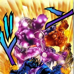 Star Platinum vs Magician's Red