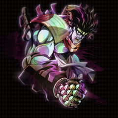 Promotional art for Star Platinum in the anime